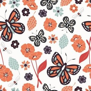 Flowers and Butterflies 004