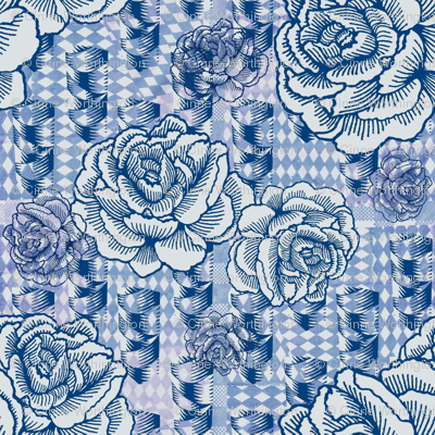 rose spindle - blue