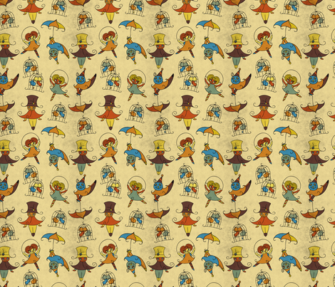 OWLP_Character2-1000h fabric by riri_willow on Spoonflower - custom fabric