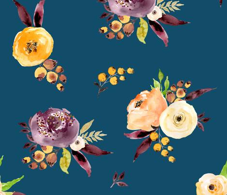 "Purple Passion Deep Blue - 21"" fabric by shopcabin on Spoonflower - custom fabric"