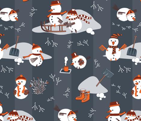Snowbirds_Colourway 1 fabric by tinatidesign on Spoonflower - custom fabric