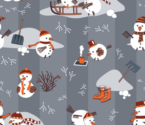 Snowbirds_Colourway 2 fabric by tinatidesign on Spoonflower - custom fabric