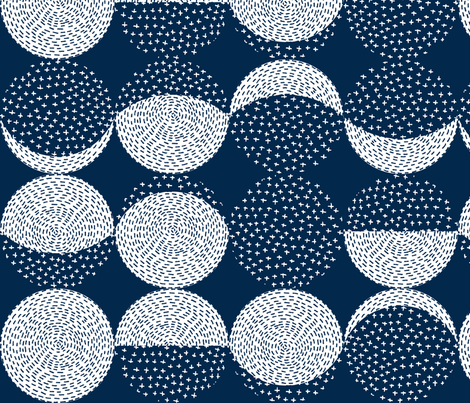 Rotated, L - Moon Phases Embroidery fabric by marketa_stengl on Spoonflower - custom fabric