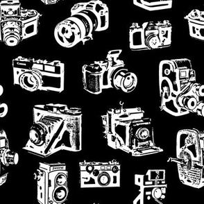 Stylized Vintage Cameras - Black
