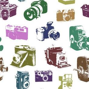 Vintage Multicolor Cameras