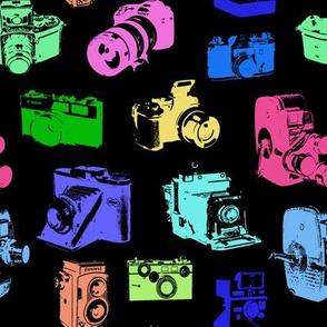Retro Neon Cameras