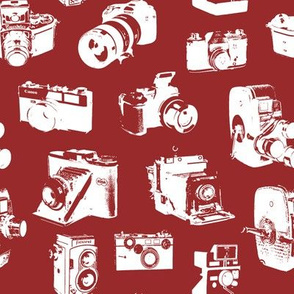 Vintage Cameras - Red