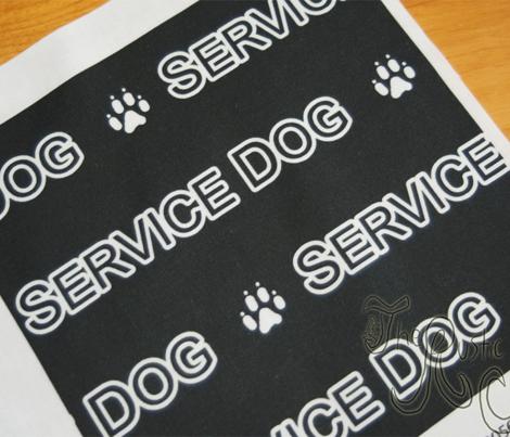 Basic Service dog text - white