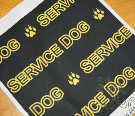 Basic Service dog text - yellow