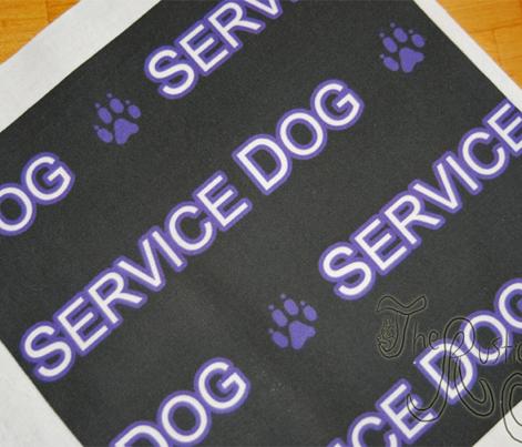 Basic Service dog text - purple