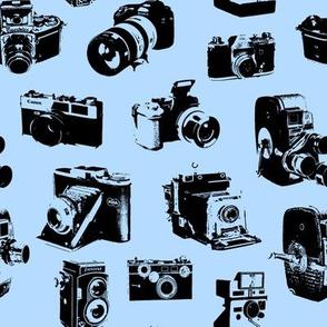 Vintage Cameras - Light Blue