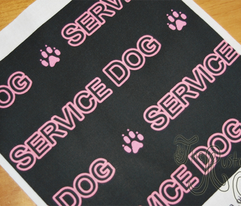 Basic Service dog text - pink