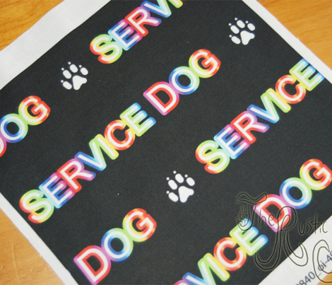 Basic Service dog text - rainbow
