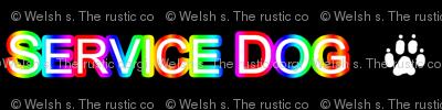 Basic Service dog text - rainbow