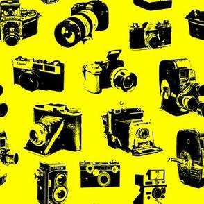 Vintage Cameras - Yellow