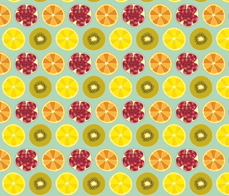Cocktail Dream Multifruit Medium fabric by prydverk on Spoonflower - custom fabric