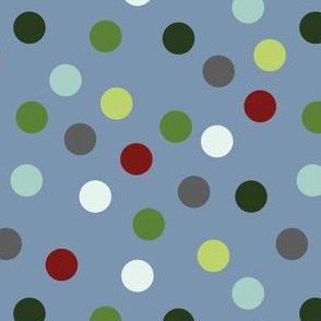 Nautical polka dots (sea blue)