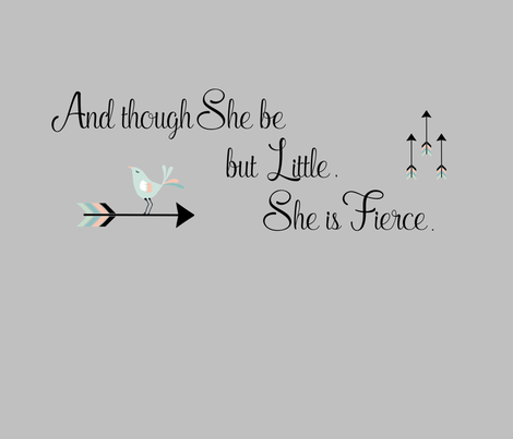 Though She Be But Little She Is Fierce Quote | And Though She Be But Little She Is Fierce Quote Wallpaper