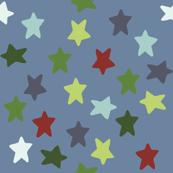 Nautical stars (sea blue)