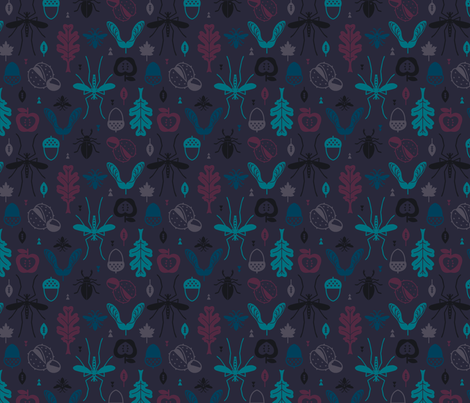Nature Foliage Deep Winter fabric by phirefly_print on Spoonflower - custom fabric