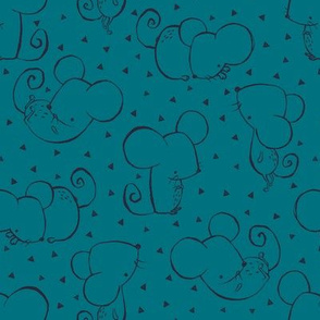 Teal Inky Mouse