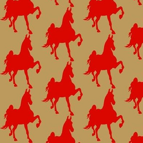 HOT TO TROT (Khaki-Red)