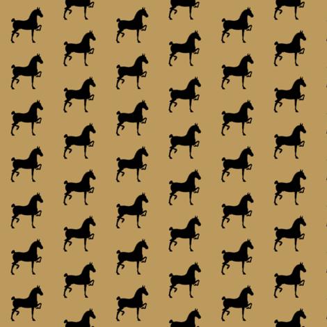 hackney pony (KHAKI & black)-ch fabric by redmares on Spoonflower - custom fabric