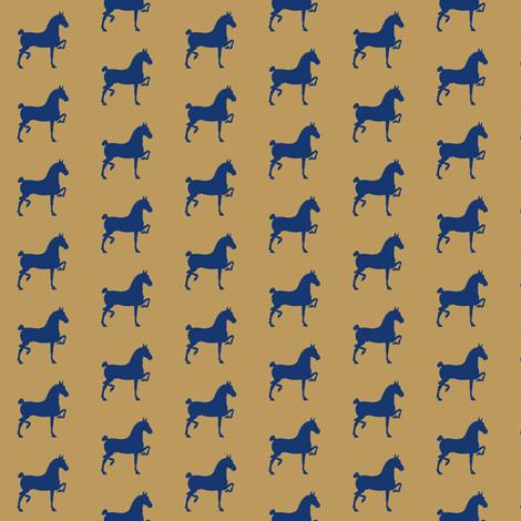 hackney pony (Khaki & Navy) fabric by redmares on Spoonflower - custom fabric