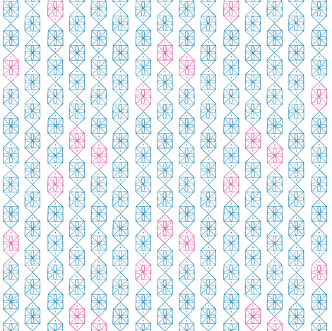 Tinsel * (Blue Liz & Pink Riot) || midcentury modern vintage geometric holiday Christmas presents gifts bows atomic fabric by pennycandy on Spoonflower - custom fabric