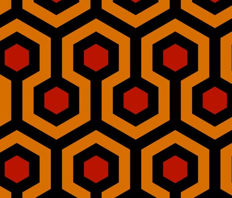 Shining Hallway Carpet Vivid fabric by salg on Spoonflower - custom fabric