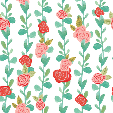 Juliet's balcony rose vine fabric by thislittlestreet on Spoonflower - custom fabric