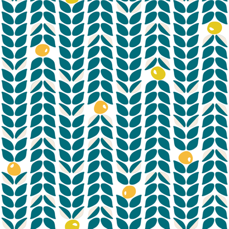 Scandinavian vine in navy  fabric by thislittlestreet on Spoonflower - custom fabric