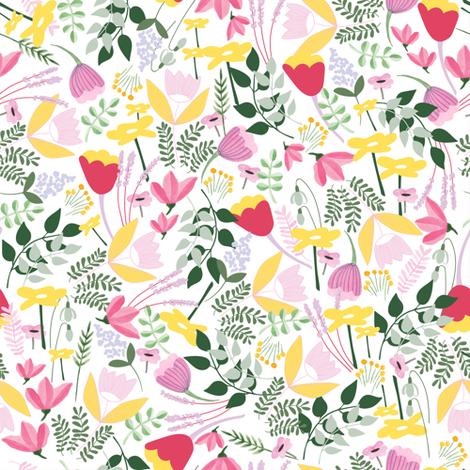 Wild Meadow floral - Spring - Medium fabric by thislittlestreet on Spoonflower - custom fabric