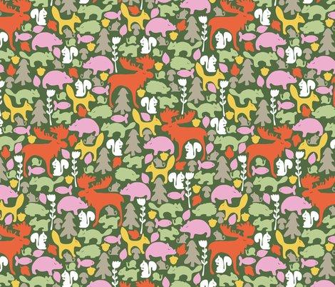 Rrspoonflower_woodlandgathering_green_shop_preview