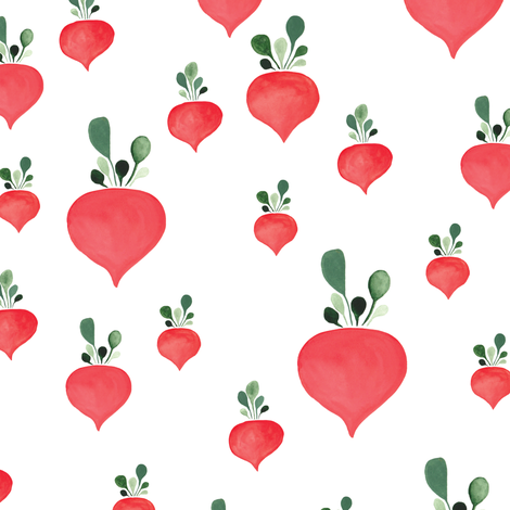 Rain of radishes fabric by thislittlestreet on Spoonflower - custom fabric