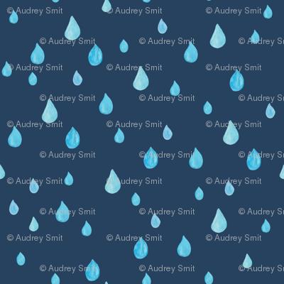Rainy day in navy - BIG