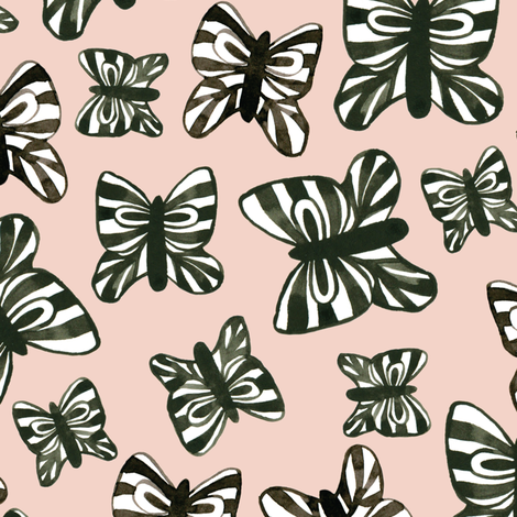 Butterflies fabric by thislittlestreet on Spoonflower - custom fabric