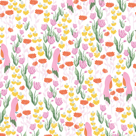 Birds of a feather fabric by thislittlestreet on Spoonflower - custom fabric