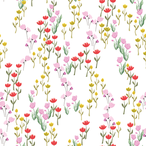 Fairytale floral fabric by thislittlestreet on Spoonflower - custom fabric