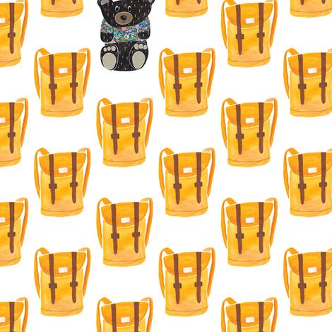 Bears and backpacks fabric by thislittlestreet on Spoonflower - custom fabric