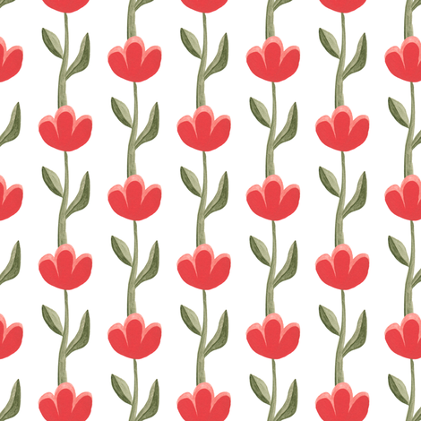 scandinavian tulips fabric by thislittlestreet on Spoonflower - custom fabric