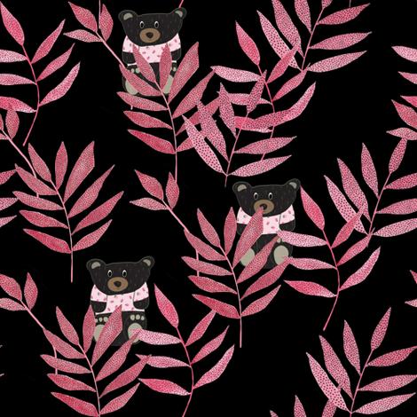 Bears hidding fabric by thislittlestreet on Spoonflower - custom fabric