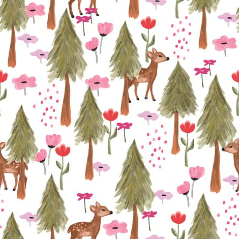 Rspoonflower_mountains_deers_white_shop_preview