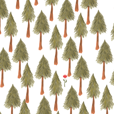 Moutain pine forest - BIG fabric by thislittlestreet on Spoonflower - custom fabric