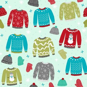 snow day sweaters winter fabric sweater design