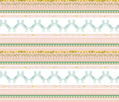 Rspoonflower_upnorth_fairisle_rabbits_salmon_shop_preview