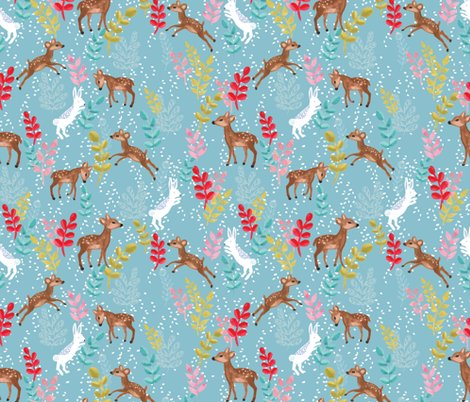 Rspoonflower_upnorth_deersandrabbits_shop_preview