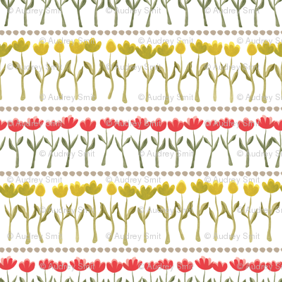 Rows of tulips floral