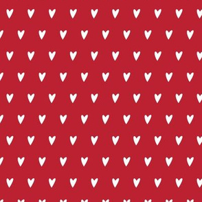 hearts on red || valentines