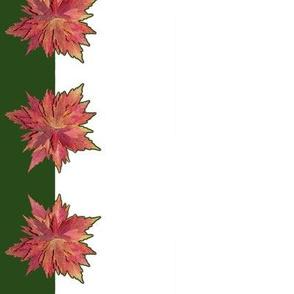 Autumn Leaf Poinsettias Napkins